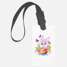Pink Easter Bunny Luggage Tag