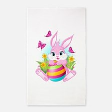 Pink Easter Bunny Area Rug