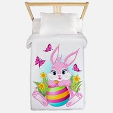 Pink Easter Bunny Twin Duvet