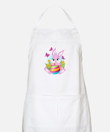 Pink Easter Bunny Apron