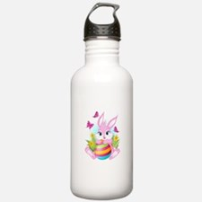 Pink Easter Bunny Water Bottle