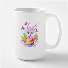 Pink Easter Bunny Ceramic Mugs