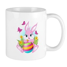 Pink Easter Bunny Small Mugs