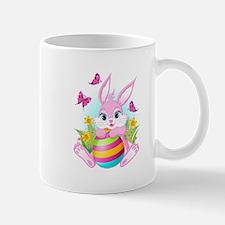 Pink Easter Bunny Small Mugs