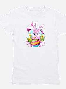Pink Easter Bunny Girl's Tee