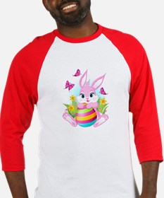 Pink Easter Bunny Baseball Jersey