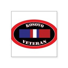 "Unique Kosovo Square Sticker 3"" x 3"""