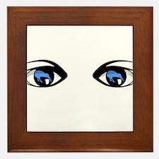 Kiwi blue eyes watching Framed Tile