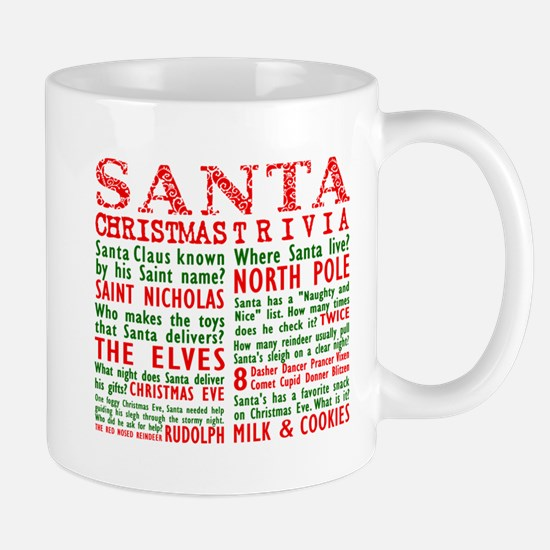Santa Christmas Trivia Mug