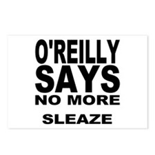 NO MORE SLEAZE Postcards (Package of 8)