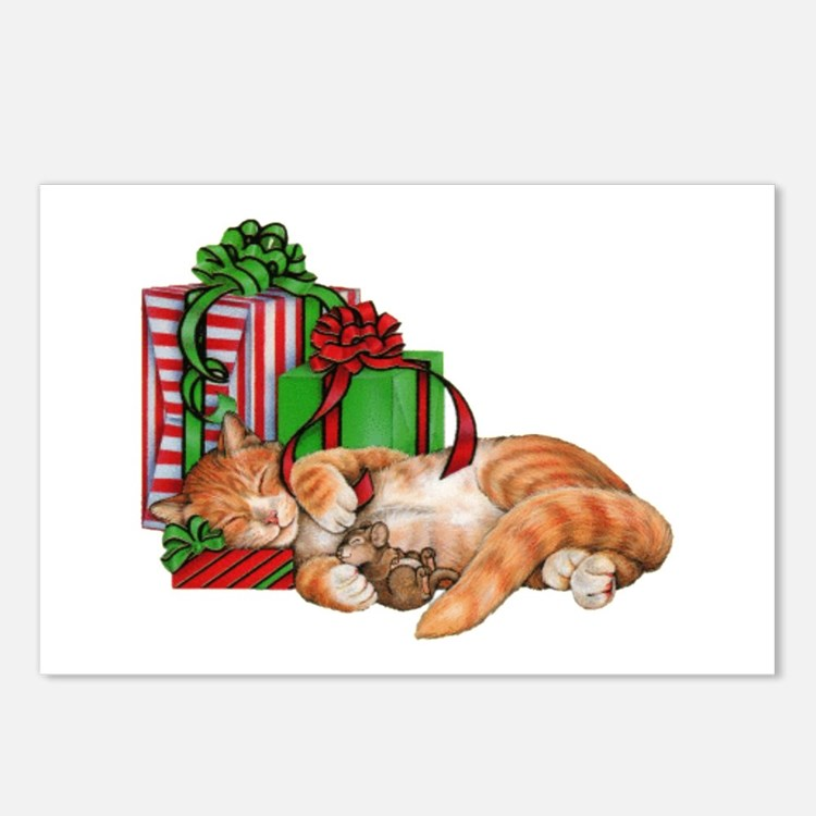Cute Cat, Mouse And Postcards (package Of 8)