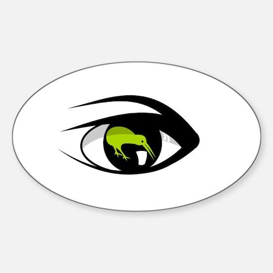 Green eye kiwi watch Decal
