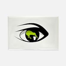 Green eye kiwi watch Magnets