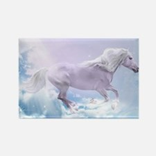 White Magic Mare Rectangle Magnet