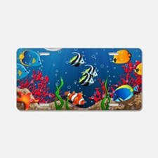 Tropical Underwater World Aluminum License Plate