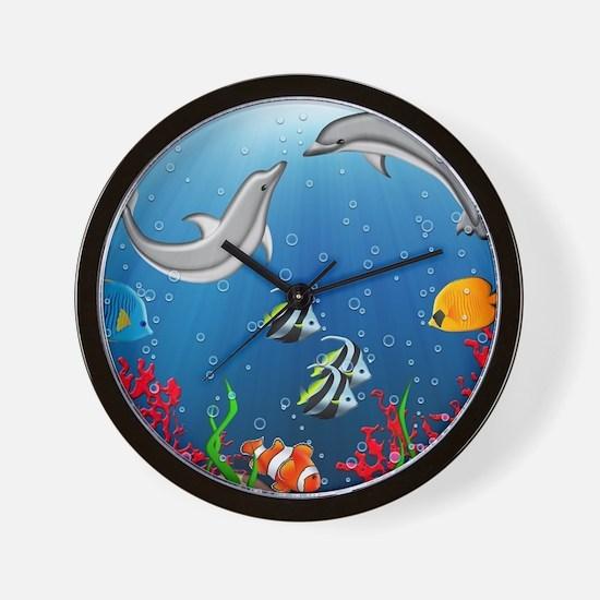 Tropical Underwater World Wall Clock