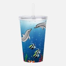 Tropical Underwater Wo Acrylic Double-wall Tumbler