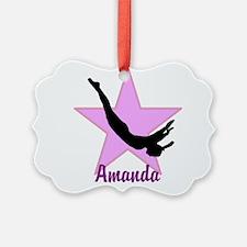 Pink Trampoline Star Ornament