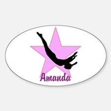 Pink Trampoline Star Decal
