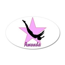 Pink Trampoline Star Wall Decal