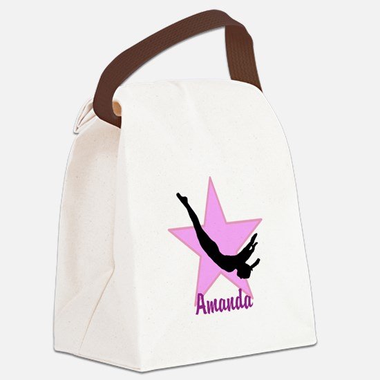 Pink Trampoline Star Canvas Lunch Bag