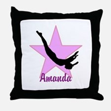 Pink Trampoline Star Throw Pillow