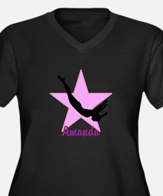 Pink Trampoline Star Plus Size T-Shirt