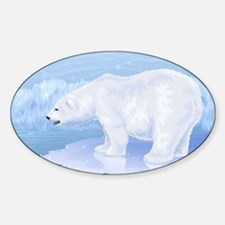 Polar Bear Sticker (Oval)
