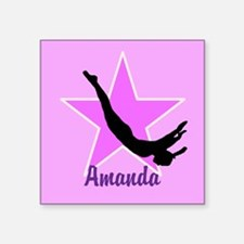 Trampoline Star gymnast Sticker