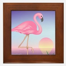 Pink Flamingo Framed Tile