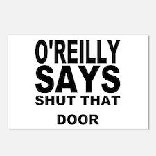 SHUT THAT DOOR Postcards (Package of 8)
