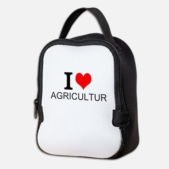 I Love Agriculture Neoprene Lunch Bag
