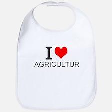 I Love Agriculture Bib
