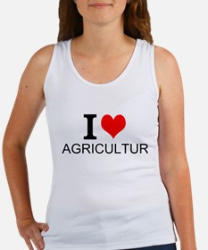 I Love Agriculture Tank Top