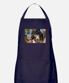3 dogs and foot Apron (dark)
