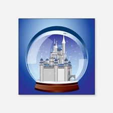 "Castle Snow Globe Square Sticker 3"" x 3"""