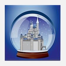 Castle Snow Globe Tile Coaster