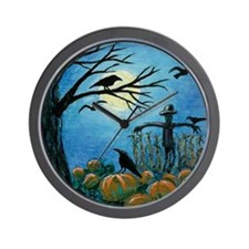 When Scarecrows Sleep Wall Clock