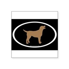 "Cute Lab dog Square Sticker 3"" x 3"""