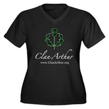 Clan Arthur Thistle Women's Plus Size V-Neck Dark
