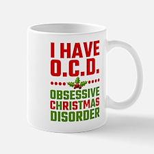 I Have OCD Obsessive Christmas Disorder Mugs