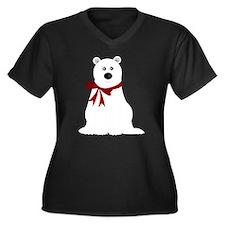 Cute Polar B Women's Plus Size V-Neck Dark T-Shirt