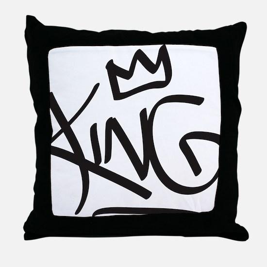 Cute King Throw Pillow
