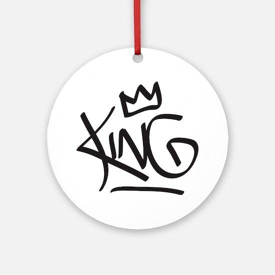 Cute King Round Ornament