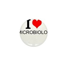 I Love Microbiology Mini Button (10 pack)