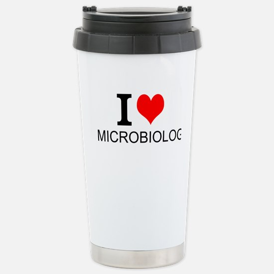 I Love Microbiology Travel Mug
