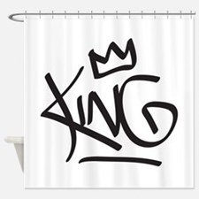 King Tag Shower Curtain