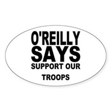 SUPPORT OUR TROOPS Oval Decal