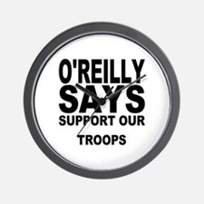 SUPPORT OUR TROOPS Wall Clock