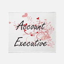 Account Executive Artistic Job Desig Throw Blanket